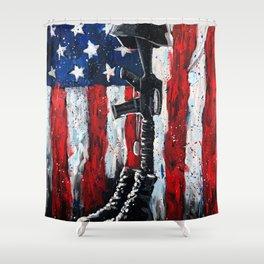 Battlefield Cross War Memorial Shower Curtain
