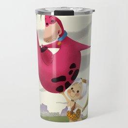 Bambam and Dino Travel Mug