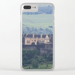 Stirling Castle from a distance Clear iPhone Case