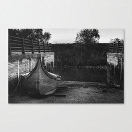 Resting boat (B&W) Canvas Print