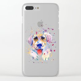 White labrador puppy portrait Clear iPhone Case