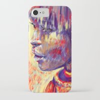 african iPhone & iPod Cases featuring African portrait by Marta Zawadzka