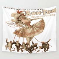 burlesque Wall Tapestries featuring Bon-Ton Burlesque by taiche