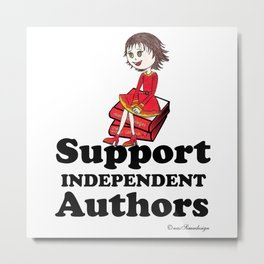 Support Independent Authors Metal Print