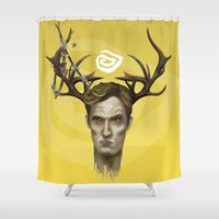 true detective Shower Curtains featuring Notice King |True Detective by Alejo Malia