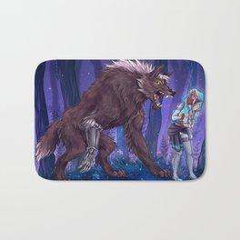 Werewolf Shiro and princess Allura Bath Mat
