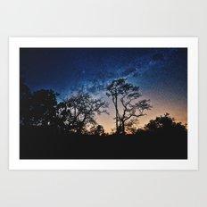 Galaxy Sky Art Print