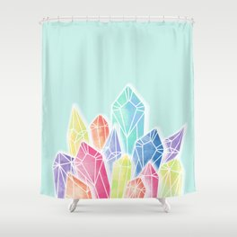 Crystals Green Shower Curtain