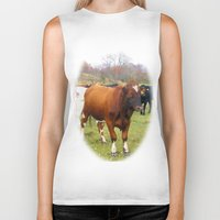 cows Biker Tanks featuring Cows by AstridJN