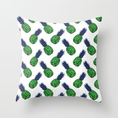 Neo-Pineapple - Smooth Green Throw Pillow