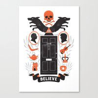 221b Canvas Prints featuring 221B by aWharton