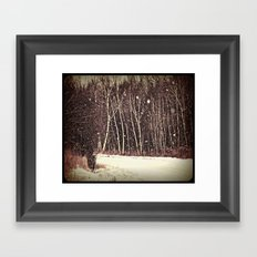 winter land Framed Art Print
