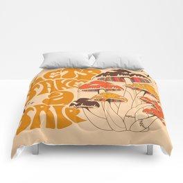 70s Mushroom, Take A Trip, Hippie Boho Comforters