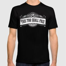 This Too Shall Pass Mens Fitted Tee Black MEDIUM