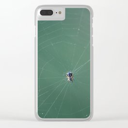 In the spider's net Clear iPhone Case