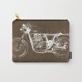 Royal Enfield motorcycle original circle art print and motorcycle quote Carry-All Pouch