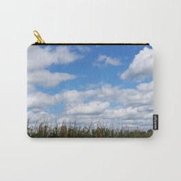 "Corn field in autumn with ""popcorn"" clouds Carry-All Pouch"