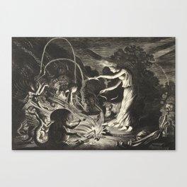 Witch - 17th Century Illustration Canvas Print