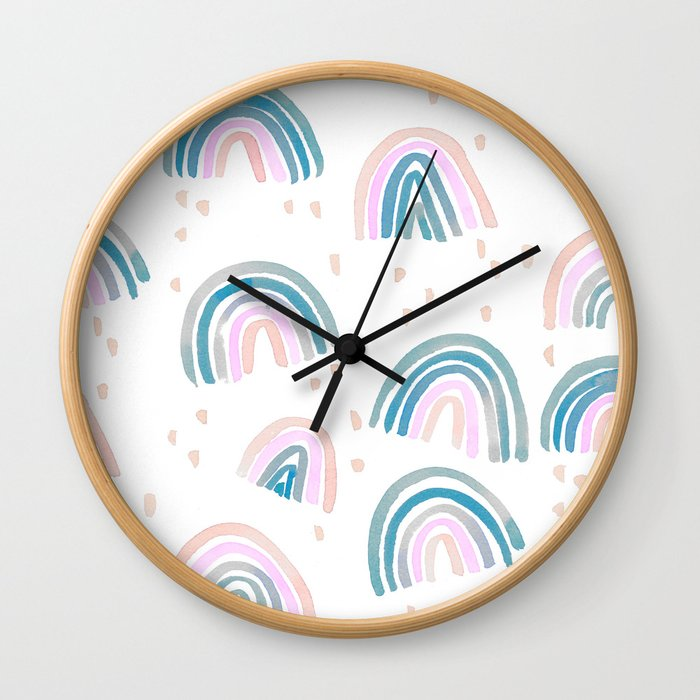 Rainbow Chroma Pastel Wall Clock