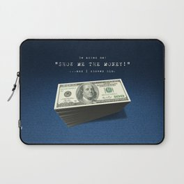 Show Me The Money - USD on Jeans Laptop Sleeve