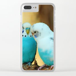Lovely Pair Of Budgies Clear iPhone Case