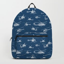 Helicopters on Navy Backpack