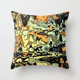 Rusty abstract Throw Pillow