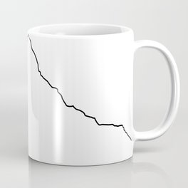 Mt Everest Art Print / White Background Black Line Minimalist Mountain Sketch Coffee Mug