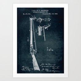 1892 - Automatic magazine gun Art Print