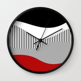 Colorful waves design 2 Wall Clock