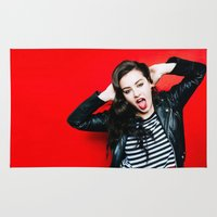 charli xcx Area & Throw Rugs featuring Charli XCX by behindthenoise