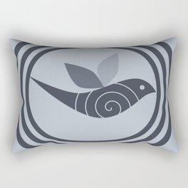 bird and circles Rectangular Pillow