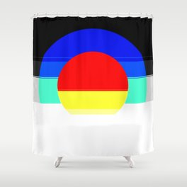 Colorful Mod Abstract Shower Curtain