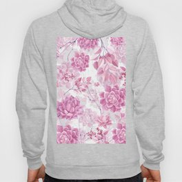 PINK SUCCULENTS #society6 Hoody