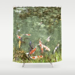 japanese carp Shower Curtain