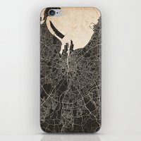 dublin iPhone & iPod Skins featuring dublin map by NJ-Illustrations