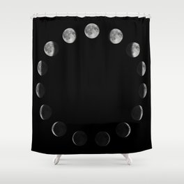 Phases of the Moon. Moon lunar cycle. Shower Curtain