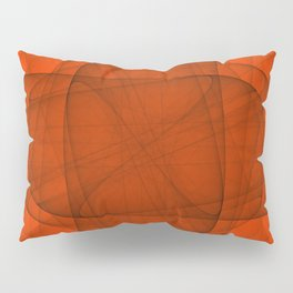 Fractal Eternal Rounded Cross in Red Pillow Sham
