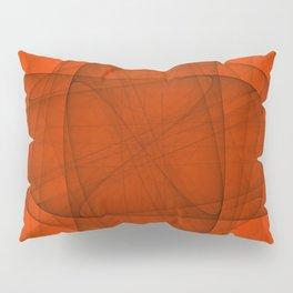 Fractal Eternal Rounded Cross in Red Pillow Sham