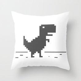 Google Dinosaur Throw Pillow