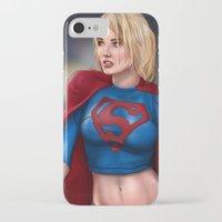 karu kara iPhone & iPod Cases featuring Kara (Supergirl) by Chase Falkenhagen