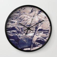 Cracked Rocks Purple Wall Clock