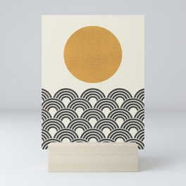 Sun & Wave - Oriental Pattern Mini Art Print