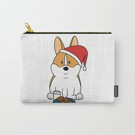 Corgi Santa Milk and Cookies Carry-All Pouch