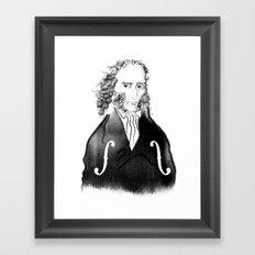 Niccolo Paganini Framed Art Print