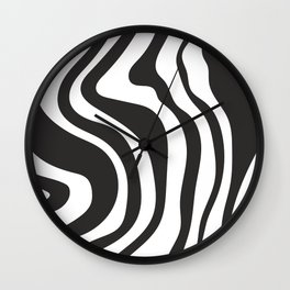 Black and White Swirl Pattern Wall Clock