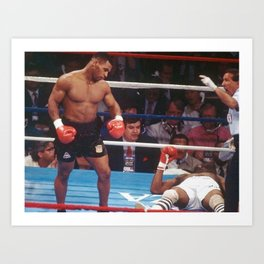#Ponte_Bien@ Instagram Society6 Online Photography - Iron Mike Tyson - Pro Boxing  - BLM c5 Art Print