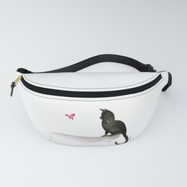 I Love Cats No.4 by Kathy Morton Stanion Fanny Pack