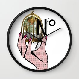 Number in Golden Cage Wall Clock
