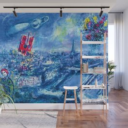 View of Paris by Marc Chagall Wall Mural